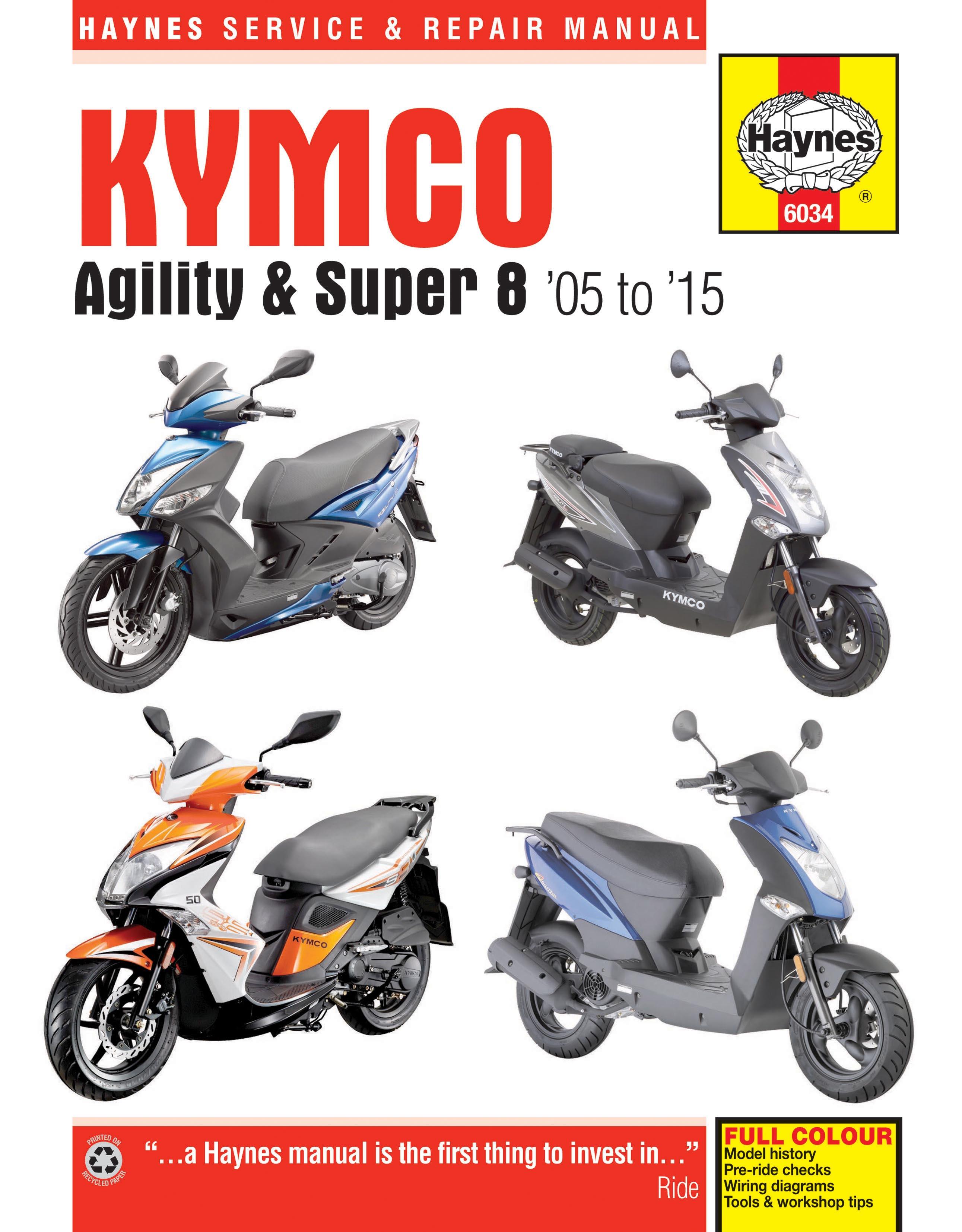 Haynes Manual For Kymco Agility 125 2005 2015