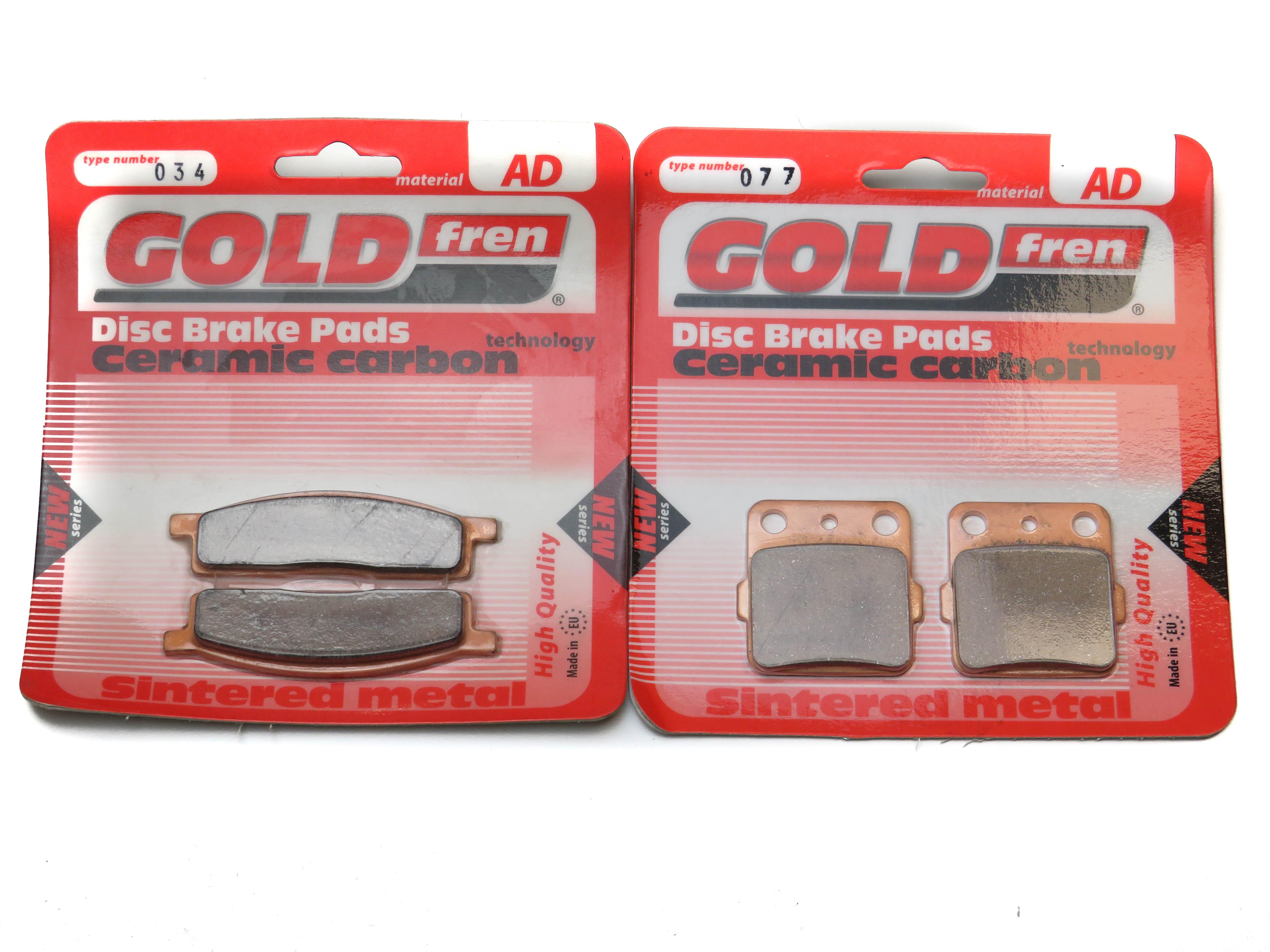 Sintered Goldfren Brake Pads For Yamaha YZ 450 FA 4T 5th Gen 33D6 Rear RH 2011